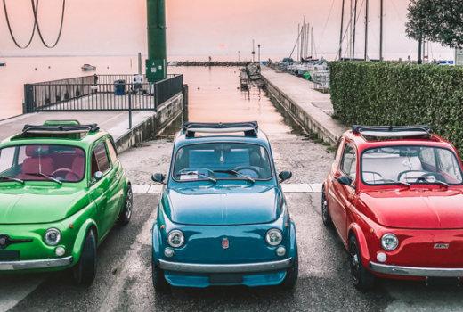 Giro del Lago di Garda in Fiat 500, tra gallerie e terrazze del brivido!