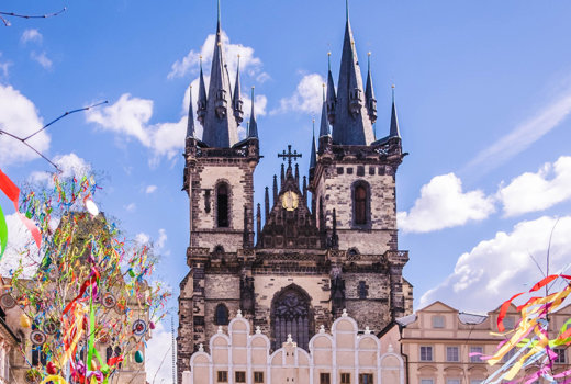 Pasqua a Praga, i colori regnano sovrani
