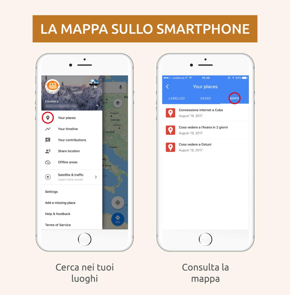 mappe interattive itinerari di viaggio