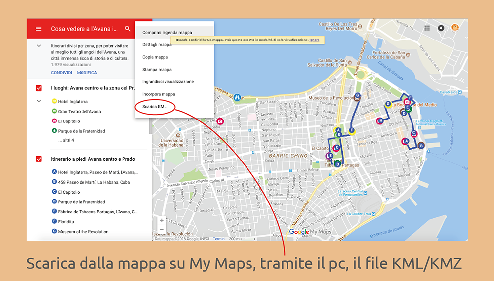 file kml kmz mappe offline my maps