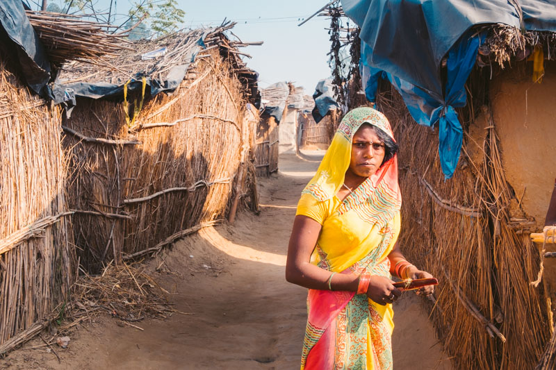 villaggio indiano punjab